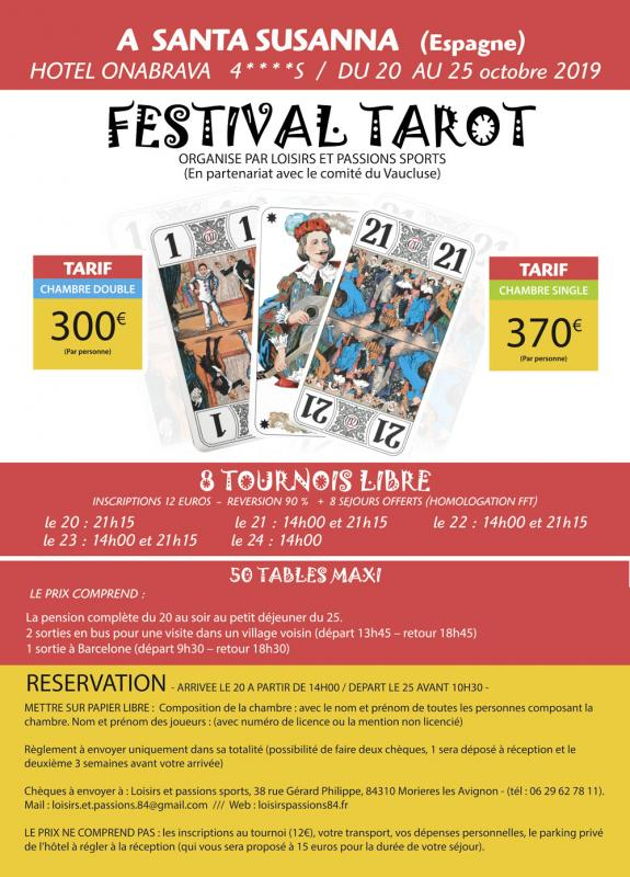 Flyer 2019 tarot loisir passion web